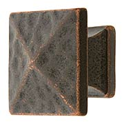 Hammered Pyramid Style Cabinet Knob - 1 1/8
