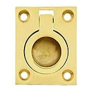 Small Solid Brass Flush Mount Ring Pull - 1 7/16