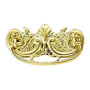 "Victorian-Style Ornate Brass Bail Pull - 3"" Center-to-Center (item #R-08BM-1150X)"