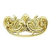 "Victorian-Style Ornate Brass Bail Pull - 3"" Center-to-Center (item #R-08BM-1150X)"