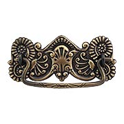 Brass American-Oak Drawer Pull in Antique-By-Hand - 3