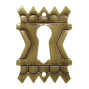 Eastlake Style Keyhole Escutcheon In Antique-By-Hand Finish (item #R-08BM-1204-ABH)