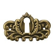 Stamped Brass Keyhole Cover in Antique-By-Hand Finish (item #R-08BM-1208-ABH)