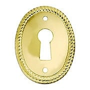 Oval Vertical Rope-Pattern Keyhole Cover - 1 1/8
