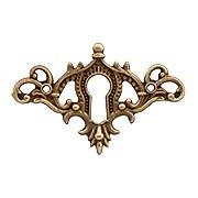 Brass American Oak Cabinet Keyhole (item #R-08BM-1212X)