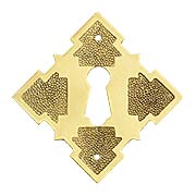 Solid Brass Diamond Keyhole Cover (item #R-08BM-1213X)