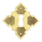 Solid Brass Diamond Keyhole Cover (item #R-08BM-1213X)