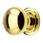 Extra Small Brass Cabinet Knob With Rosette - 5/8