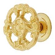 Rococo Style Cabinet Knob - 1 1/2
