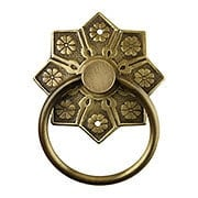 Eastlake Star Pattern Ring Pull In Antique-By-Hand (item #R-08BM-1259-ABH)