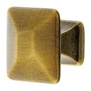 Small Pyramid-Style Cabinet Knob in Antique-By-Hand - 1
