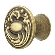 Small Victorian Dresser Knob in Antique-By-Hand - 1 1/16