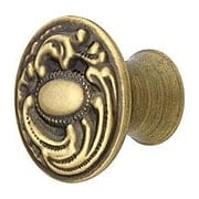 Medium Victorian Dresser Knob in Antique-By-Hand - 1 5/16