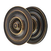Extra Large Federal-Style Knob & Back Plate - 2-Inch Diameter in Antique-By-Hand (item #R-08BM-1300-ABH)
