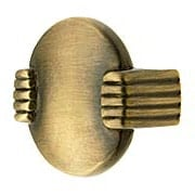 Round Deco Drawer Pull In Antique By Hand 1 2