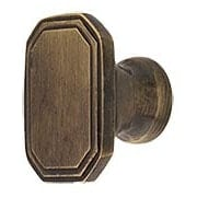 Octagonal Deco Cabinet Knob in Antique-By-Hand  - 1 1/4