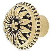 Curved Flower Petal Knob - 1 1/8-Inch Diameter (item #R-08BM-1340X)