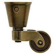 Solid Brass Round-Cup Caster with 1