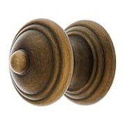 Traditional Brass Cabinet Knob in Antique-By-Hand - 1