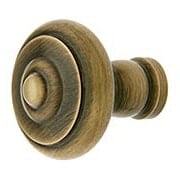 Small Mid-Century Style Cabinet Knob In Antique-By-Hand - 1