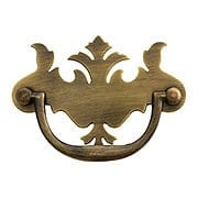 English Chippendale Brass Bail Pull in Antique-by-Hand - 3
