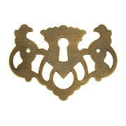 Chippendale Griffin Keyhole Cover In Antique-By-Hand Finish (item #R-08BM-1492-ABH)