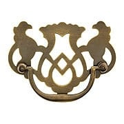 Chippendale Griffin Bail Pull in Antique-by-Hand - 3-Inch Center-to-Center (item #R-08BM-1495-ABH)