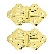 Pair of Butterfly Flush Mount Cabinet Hinges - 1 5/8