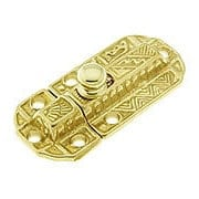 Decorative Brass Slide Latch (item #R-08BM-1613X)