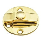 Brass Turn Button with Back Plates - 1 1/2
