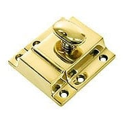 Large Cast Brass Cupboard Latch With Oval Turn Piece (item #R-08BM-1619X)