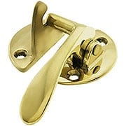 Solid Brass Right Hand Flush Hoosier Latch (item #R-08BM-1642X)
