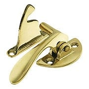 Solid Brass Offset Right-Hand Hoosier Latch - 3/8