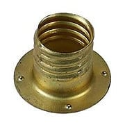 Brass Glass Knob Sleeve (item #R-08BM-5297F)