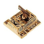 Solid Bronze Oriental Pattern Turn Latch With Highlighted Antique Finish (item #R-08CH-1390-US9A)