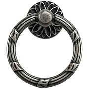 Ribbon and Reed Ring Pull With Flower Motif (item #R-08CL-100169X)