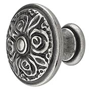 Rose Design Cabinet Knob in Old Iron Finish (item #R-08CL-100996X)