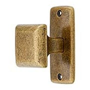 Mission Square Cabinet Knob with Rectangular Backplate (item #R-08CL-101084X)