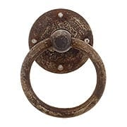 Steel Ring Pull In Distressed Rust Finish (item #R-08CL-101831-33)