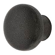 Round Iron Cabinet Knob - with 1 1/4