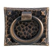 Arts & Crafts Small Hammered Ring Pull In Oil-Rubbed Bronze (item #R-08EM-86040)