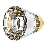 Small Brookmont Crystal Cabinet Knob With Solid Brass Base (item #R-08EM-86396X)