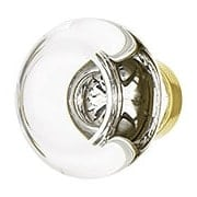 Medium Georgetown Crystal Cabinet Knob with Solid-Brass Base (item #R-08EM-86399X)