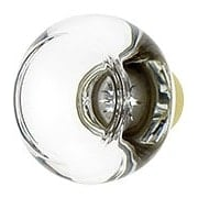 Over-Sized Georgetown Crystal Knob With Solid Brass Base (item #R-08EM-86400X)