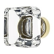 Medium Square Crystal Cabinet  Knob With Solid Brass Base (item #R-08EM-86403X)