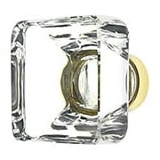 Over-Sized Square Crystal Cabinet Knob With Solid Brass Base (item #R-08EM-86404X)