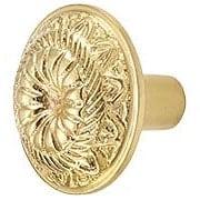 Solon Solid-Brass Cabinet Knob - 1 5/16