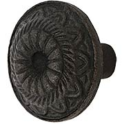 Solon Cast-Iron Cabinet Knob - 1 5/8