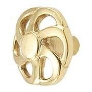 Pinwheel Solid-Brass Cabinet Knob - 1 5/8