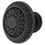 Mantua Pattern Cast-Iron Cabinet Knob (item #R-08MG-349X)